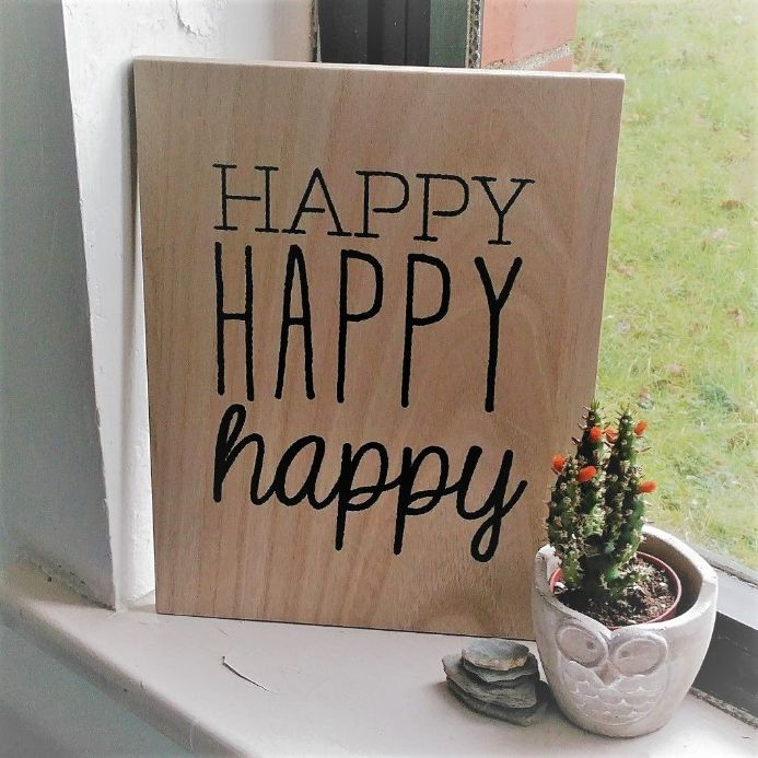 20% OFF Happy Happy Wooden Sign